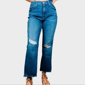 EXPRESS Mid-Rise Cropped Flare Jean Size 10